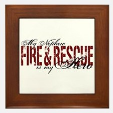 Nephew My Hero - Fire & Rescue Framed Tile