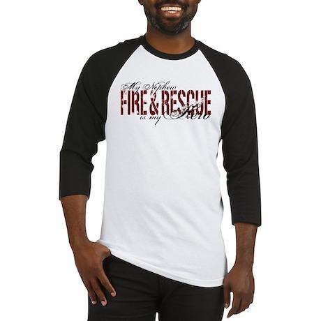 Nephew My Hero - Fire & Rescue Baseball Jersey