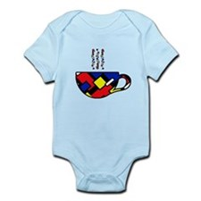 MONDRIAN COFFEE Infant Bodysuit