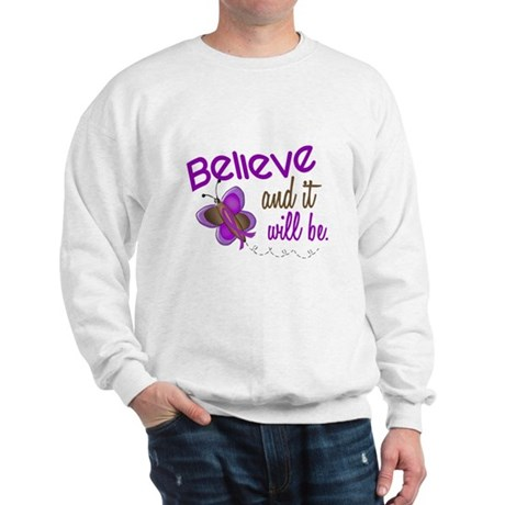 Believe 1 Butterfly 2 PURPLE Sweatshirt