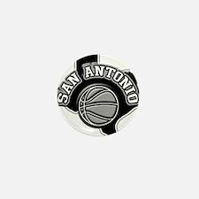 San Antonio Basketball Mini Button