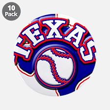 "Texas Baseball 3.5"" Button (10 pack)"