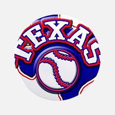 """Texas Baseball 3.5"""" Button"""