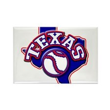 Texas Baseball Rectangle Magnet