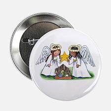 "Christmas Angel Nativity 2.25"" Button"