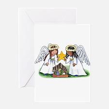 Christmas Angel Nativity Greeting Card