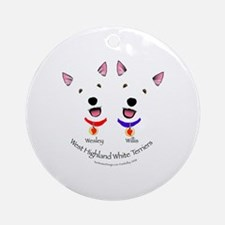 Custom - Wesley & Willis Ornament (Round)