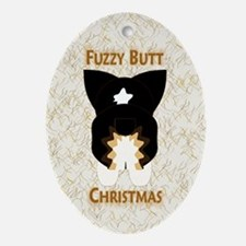 BHT Pem Fuzzy Butt Christmas Oval Ornament