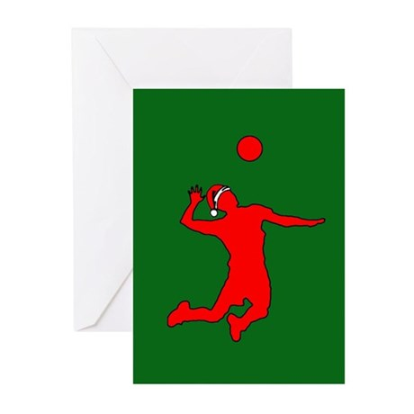 Volleyball Christmas Greeting Cards (Pk of 10)