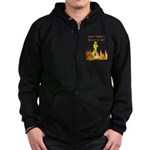Bad Tippers Serve Zip Hoodie (dark)