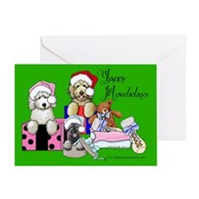 TBG & TBS Green Christmas Greeting Card