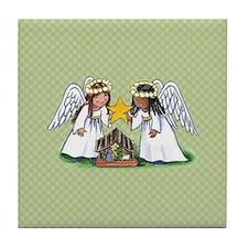 Christmas Angel Nativity Tile Coaster