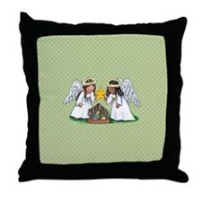 Christmas Angel Nativity Throw Pillow