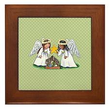 Christmas Angel Nativity Framed Tile