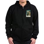 New Year Wishes Zip Hoodie (dark)