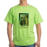 New Year Wishes Green T-Shirt