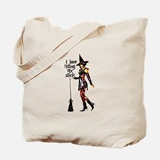I Love Riding My Stick Tote Bag