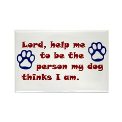 Dog Prayer Rectangle Magnet