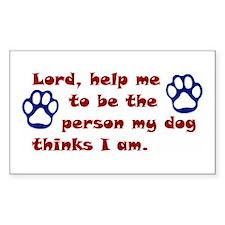 Dog Prayer Rectangle Decal