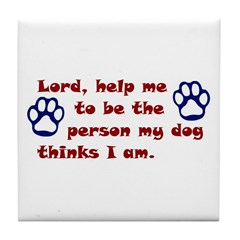 Dog Prayer Tile Coaster
