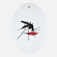 Cute Mosquito Oval Ornament