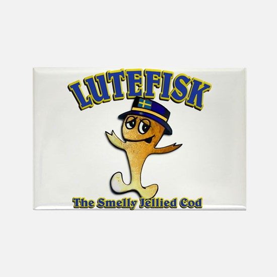 Lutefisk the dried codfish Rectangle Magnet (10 pa