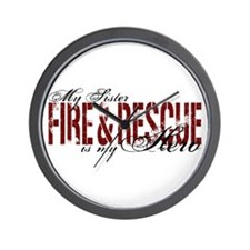 Sister My Hero - Fire & Rescue Wall Clock