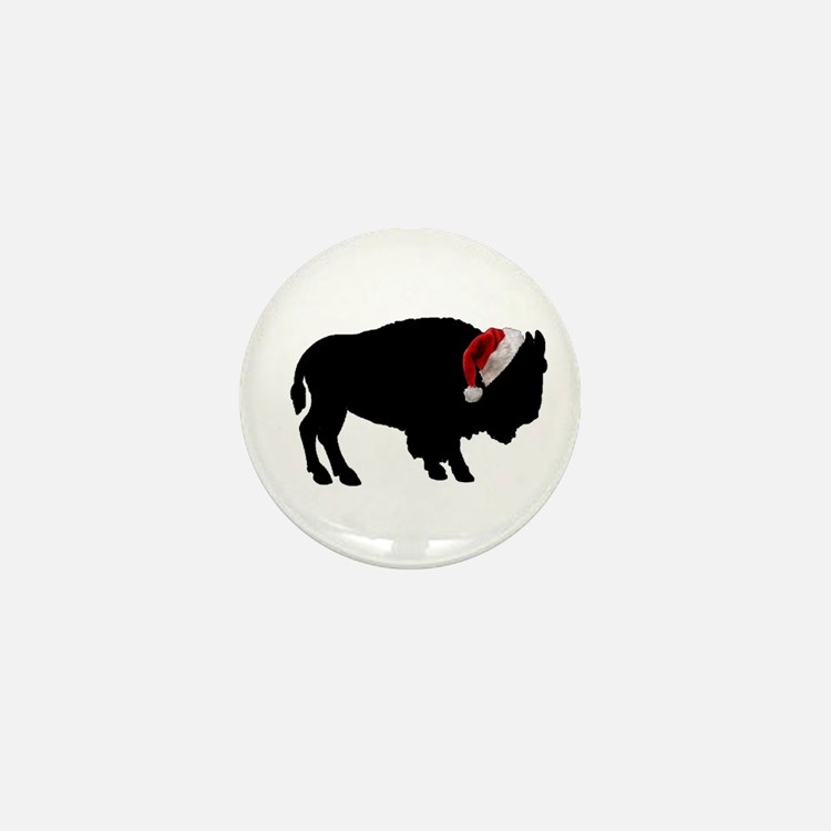 Buffalo Santa Mini Button