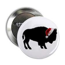 """Buffalo Santa 2.25"""" Button"""