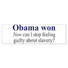 Obama won... Bumper Sticker (10 pk)