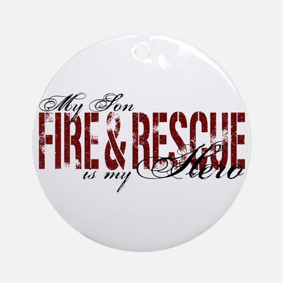 Son My Hero - Fire & Rescue Ornament (Round)