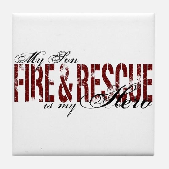 Son My Hero - Fire & Rescue Tile Coaster