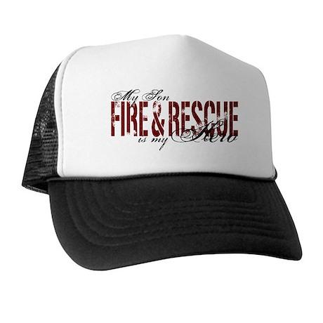 Son My Hero - Fire & Rescue Trucker Hat