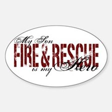 Son My Hero - Fire & Rescue Oval Decal