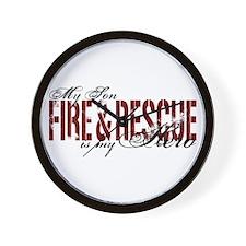 Son My Hero - Fire & Rescue Wall Clock
