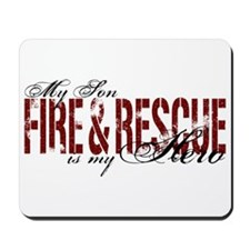 Son My Hero - Fire & Rescue Mousepad