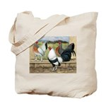 Duckwing Bantam Chickens Tote Bag