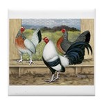 Duckwing Bantam Chickens Tile Coaster
