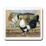 Duckwing Bantam Chickens Mousepad