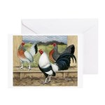 Duckwing Bantam Chickens Greeting Cards (Pk of 10)