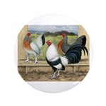 "Duckwing Bantam Chickens 3.5"" Button (100 pac"