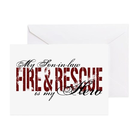 Son-in-law My Hero - Fire & Rescue Greeting Cards