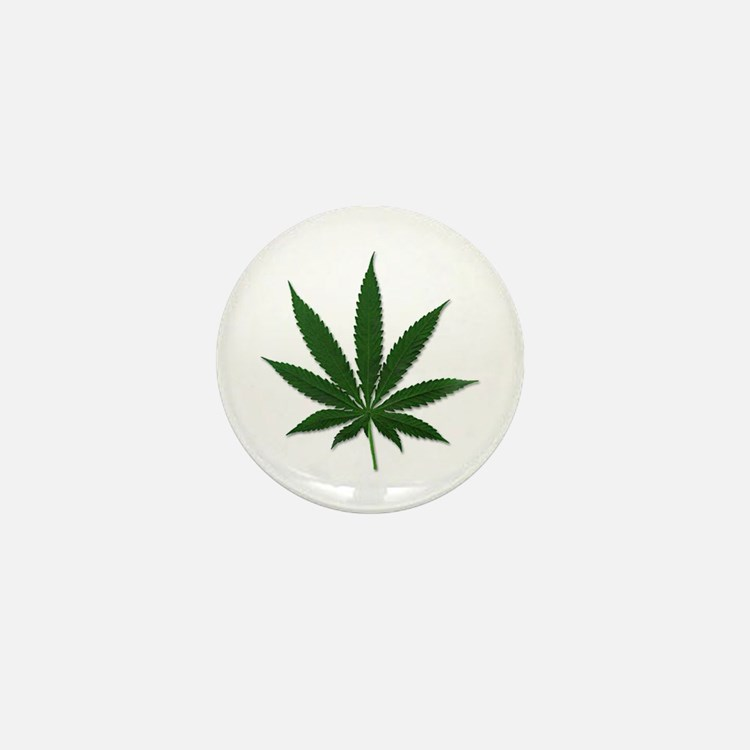 Marijuana Pot Leaf Mini Button