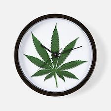 Marijuana Pot Leaf Wall Clock