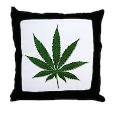 Marijuana Pot Leaf Throw Pillow