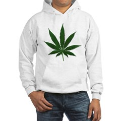 Marijuana Pot Leaf Hooded Sweatshirt