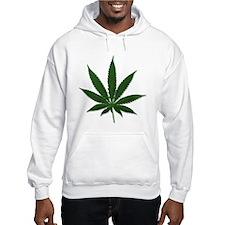 Marijuana Pot Leaf (Front) Jumper Hoody