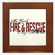 Uncle My Hero - Fire & Rescue Framed Tile