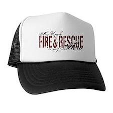 Uncle My Hero - Fire & Rescue Trucker Hat