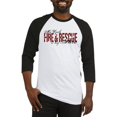 Uncle My Hero - Fire & Rescue Baseball Jersey